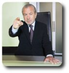 Alan Sugar acts out the leadership myth